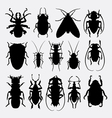Bug insect animal silhouette vector image vector image