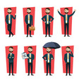 businessman character creation set showing vector image
