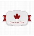 Canada Day Label with Ribbon vector image vector image