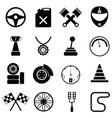 car race icon set vector image vector image