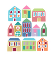 Cartoon colorful houses vector image