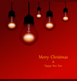 christmas lights holiday background merry vector image vector image