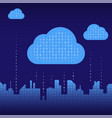 city on line abstract futuristic digital city vector image