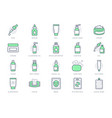 cleanser cosmetic line icons vector image