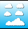 Cloud Set Cartoon Style vector image