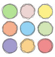 colorful art draw sticker tag label set on white vector image