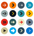 Colorful Circle Arrows Set for Application or Web vector image vector image