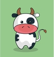 cute cow stuffed icon vector image vector image