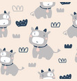cute cows seamless pattern vector image