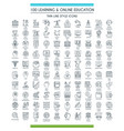 education line icons big set vector image vector image