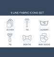 fabric icons vector image vector image