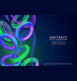 fashion art abstract colorful shape 3d vector image