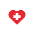 first aid icon design template isolated vector image vector image