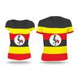 Flag shirt design of Uganda vector image vector image