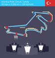 formula 1 turkey circuit vector image vector image