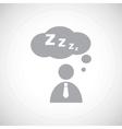 Grey sleeping person icon vector image