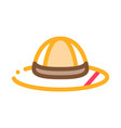 hat icon outline vector image vector image