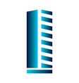 isolated abstract building logo vector image vector image