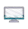isolated computer design vector image vector image