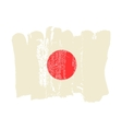 Japan flag painted by brush hand paints vector image vector image