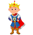 Kid cartoon with king costume vector image