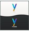 letter Y logo alphabet mosaic icon set background vector image vector image