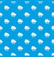 lightning pattern seamless blue vector image vector image