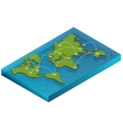 map world isometric concept 3d flat vector image vector image