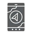 navigation glyph icon gps and location arrow on vector image