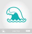 ocean wave outline icon summer vacation vector image vector image