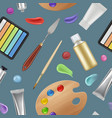 painter tools pattern materials for artists vector image