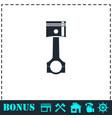 piston icon flat vector image