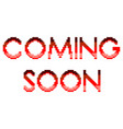 pixel coming soon text detailed isolated vector image vector image