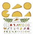 pizza constructor creator vector image vector image