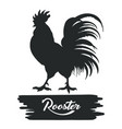rooster chicken emblem vector image vector image