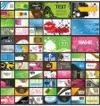 set of 66 business cards vector image vector image