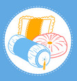 shapes cushion set icon vector image vector image