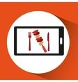smartphone order skewers food online vector image vector image