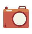 summer travel and vacation photo camera in flat vector image