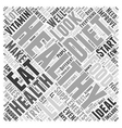 Supplements And Your Health Word Cloud Concept vector image vector image