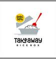 takeaway food logo banner vector image vector image
