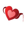 Tea pot heart vector image vector image