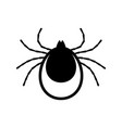 tick icon mite sign isolated on white vector image vector image