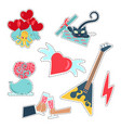 trendy patches badges stickers and pins vector image