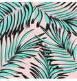 tropical palm leaf background floral vector image vector image