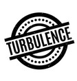 turbulence rubber stamp vector image vector image