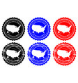 usa rubber stamp vector image