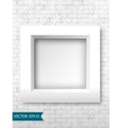White frames on a brick wall for your design vector image vector image