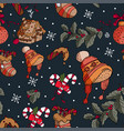 winter holiday january pattern in vector image vector image