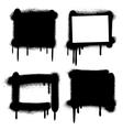 Spray paint graffiti grunge frames banners vector image